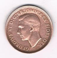 HALF PENNY 1951 AUSTRALIE /0702/ - Monnaie Pré-décimale (1910-1965)