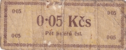 Czechoslovakia Prison Camp Voucher  0,05 Kcs Ostrov U Karlových Varu, Very RARE!!!!! - Tchécoslovaquie