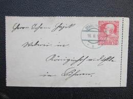 GANZSACHE Stadl Paura - Königinhof 1913 Kartenbrief ///  D*36229 - 1850-1918 Imperium