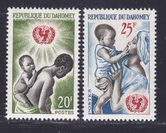 DAHOMEY N°  214 & 215 ** MNH Neufs Sans Charnière, TB (D8336) Anniversaire De L'UNICEF - 1964 - Benin – Dahomey (1960-...)