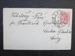 GANZSACHE Olomouc - Ceska Skalice 1902  Kartenbrief ///  D*36231 - Briefe U. Dokumente