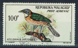 Madagascar, Bird, Pitta-like Ground Roller, 1963, VFU  Airmail - Madagascar (1960-...)