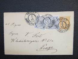 GANZSACHE Trieste Barriera - Vecchia - Praga 1902 Kartenbrief ///  D*36232 - Briefe U. Dokumente