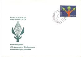 LIECHTENSTEIN FDC DEVELOPMENT ASSISTANCE (GEN190195) - Primo Soccorso