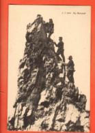 VARR-20 Au Sommet. Ascension Du Zinalrothorn Sur Zinal. Anniviers. Cordée Alpinistes. Jullien 8003 Non Circulé - VS Valais