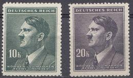BOEMIA E MORAVIA, OCCUPAZIONE TEDESCA - 1942/1945 - Lotto 2 Valori Nuovi Senza Gomma: Yvert 95 E 96. - Ocupación 1938 – 45