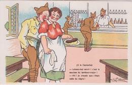 HUMOUR MILITAIRE SOLDAT - Illustration V.S.PAHN - Dos Vierge _ A LA CANTOCHE - C EST LA SAUCISSE DU TAMBOUR MAJOR - Humoristiques