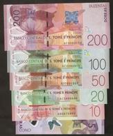 S. Tome Principe Banknote 5 10 20 50 100 200 Dobras 2016/2018 UNC - Sao Tomé Et Principe