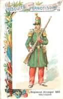 CHROMO BISCUITS PERNOT SERIE LES UNIFORMES MILITAIRES REGIMENT ETRANGER 1855 VOLTIGEUR - Pernot