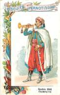CHROMO BISCUITS PERNOT SERIE LES UNIFORMES MILITAIRES SPAHIS 1845 TROMPETTE - Pernot