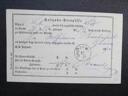 Aufgabs Recepisse Ung. Brod Uhersky Brod 1874 ///  D*36240 - Briefe U. Dokumente