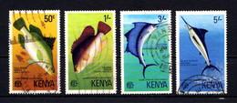 KENYA    1977    Game  Fish  Of  East  Africa    Set  Of  4    USED - Kenya (1963-...)