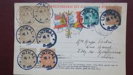 Type Blanc Sur Carte Franchise Militaire Obliteration Linthal Haut Rhin Vois Scans - 1877-1920: Période Semi Moderne