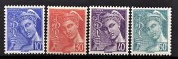 FRANCE 1942 - Serie  Y.T. N° 546 A 549 - 4 TP NEUFS** - France