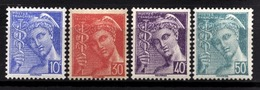 FRANCE 1942 - Serie  Y.T. N° 546 A 549 - 4 TP NEUFS** - Francia