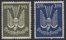 ALLEMAGNE - GERMANIA Reich - 1922/1923 - Lotto Due Valori Nuovi MNH, Posta Aerea: Michel 217 E 266. - Luftpost