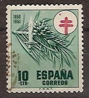 ESPAÑA SEGUNDO CENTENARIO USADO Nº 1085 (0) 10C VERDEPROTUBERCULOSOS - 1931-Aujourd'hui: II. République - ....Juan Carlos I