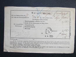 Aufgabs Recepisse Markt Raigern Rajhrad 1878 ///  D*36243 - 1850-1918 Imperium
