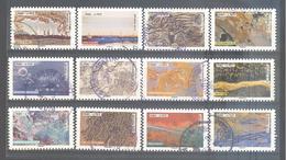 France Autoadhésifs Oblitérés N°1502 à 1513 (série Complète : Oeuvres De La Nature) (cachet Rond) - France