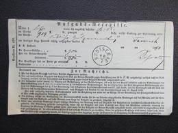 Aufgabs Recepisse Budischau Budisov 1870  ///  D*36245 - 1850-1918 Imperium
