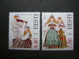 National Costumes # Estonia Estonie Eesti # 2004 MNH # Mi. 498/9 - Estonia