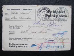 Feldpost Kunratitz Kunratice 1914 Feldpostamt No.55 Praha Libus  ///  D*36253 - 1850-1918 Imperium