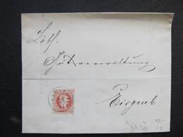 BRIEF Adamsthal - Eisgrub Adamov - Lednice 1868  ///  D*36258 - 1850-1918 Imperium