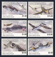 SOLOMON ISLANDS 2010 AIRCRAFT MILITARY RAF BATTLE OF BRITAIN SPITFIRE SET MNH - Solomon Islands (1978-...)