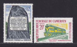 CAMEROUN N°  392 & 393 ** MNH Neufs Sans Charnière, TB (D8346) Ligne De Chemin De Fer Mbanga-Kumba - 1965 - Cameroon (1960-...)