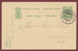 Bonnevoie Luxembourg Entier Postal Du 7 Août 1911 - Entiers Postaux