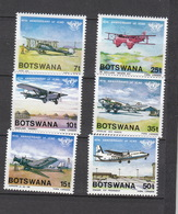 Botswana ** 345-350 Luftfahrt   Katalog  12,00 - Botswana (1966-...)