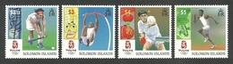 SOLOMON ISLANDS 2008 OLYMPICS SPORTS BEIJING HOCKEY PING PONG ATHLETICS SET MNH - Solomon Islands (1978-...)