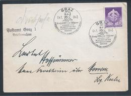 Letter Circulated With Obliteration Of Georg Ritter Von Schönerer, From Graz In 1942. 2nd World War. Political. Rare. - WO2