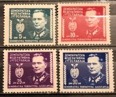 Yugoslavia ,1945, Mi: 454/57 (MNH) - Nuovi