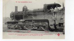 Les Locomotives (Nord)  Machine N°2168  Pour Trains Express Rapides Construite En 1897-1898. - Trains