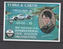 Turks & Caicos    **  Block 55 Luftfahrt Katalog 9,00 - Turks & Caicos