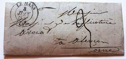 Lot De Deux Lettres Au Départ Du Mans De 1845 - Vieux Papiers
