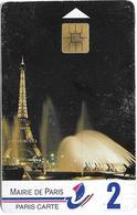 Carte De Stationnement 2 - Mairie De Paris - Tour Eiffel - Francia