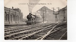 LES LOCOMOTIVES (Royaume-Uni) L.B.& S.C.R. EXPRESS LEAVING BRIGHTON N°39 - Trains