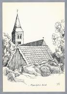 NL.- HIPPOLYTUSHOEF. Hippolytuskerk. Pentekening Van J.S. - Schone Kunsten
