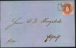 1864, Kabinett Faltbrief Mit 1 Groschen Ab BRAKE - Oldenburg