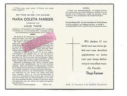 D 556. MARIA COLETA FANSEER  Echtg. L. THEYS - °TESSENDERLO 1877 En Aldaar + 1951 - Images Religieuses