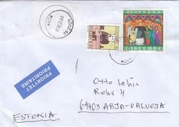 GOOD POLAND Postal Cover To ESTONIA 2018 - Good Stamped: Easter - 1944-.... Republic