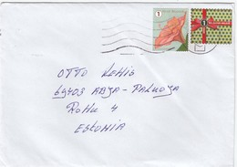 GOOD BEGIUM Postal Cover To ESTONIA 2018 - Good Stamped: Gift ; Flower - Belgium