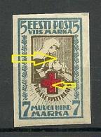 Estland Estonia 1921 Michel 30 B ERROR Variety Abart * - Estonie