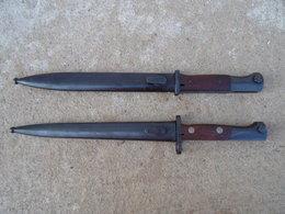 Lot De 2 Baionnette Bayonet Allemande Et Yougoslave Complete 98k WW2 Mauser Baio - 1939-45