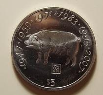 Liberia 5 Dollars 2000 Lightly Varnished - Liberia