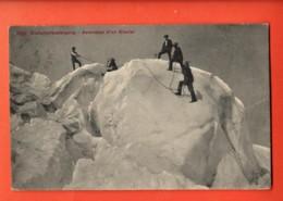 VARR-32 Gletscherbesteigung, Ascension D'un Glacier. Belebt.Stempel Gornergrat  1908 Für Paris Photoglob 609 - VS Valais