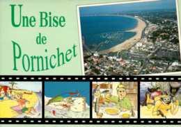 Dep 44 , Cpm Une Bise De PORNICHET , 44380 , Multivues  (D09.4309) - Pornichet