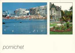 Dep 44 , Cpm PORNICHET , 44380 , Multivues (beau Timbre ; Secours Populaire 1945-1995 Neuf)  (D09.4327) - Pornichet